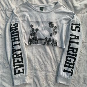 """""""Everything is Alright"""" Cropped Sweatshirt"""